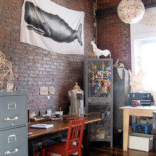 Фотография: Кабинет в стиле Лофт, Интерьер комнат – фото на InMyRoom.ru