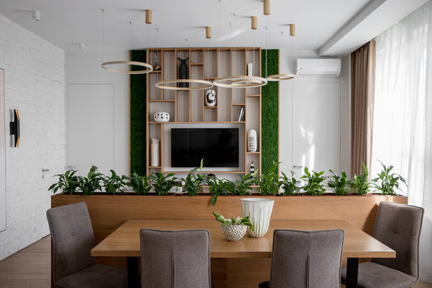 Фотография: Кухня и столовая в стиле Современный, Квартира, Проект недели, Москва, 3 комнаты, 60-90 метров, Более 90 метров, Own Design – фото на INMYROOM