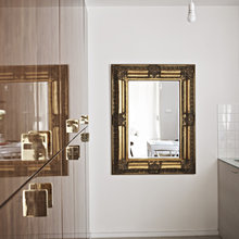 Фотография: Ванная в стиле Скандинавский, Малогабаритная квартира, Квартира, Дома и квартиры, Стеновые панели – фото на InMyRoom.ru