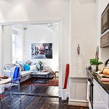 Фотография: Кухня и столовая в стиле Скандинавский, Малогабаритная квартира, Квартира, Швеция, Дома и квартиры – фото на InMyRoom.ru