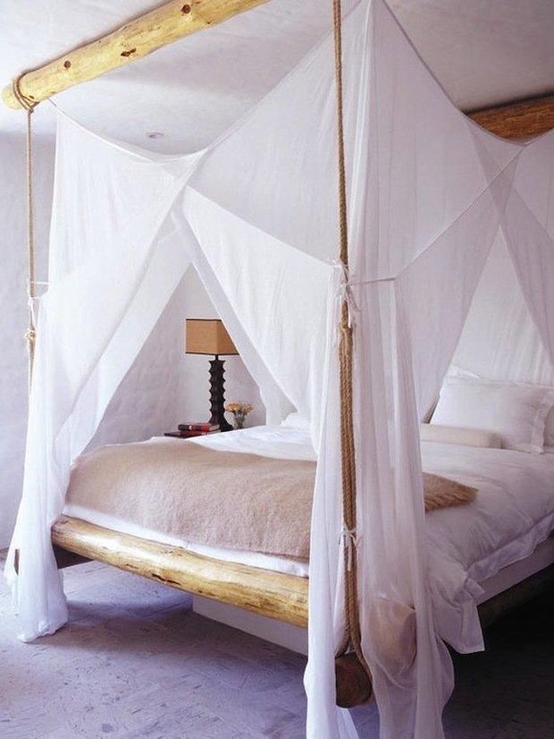 Фотография: Спальня в стиле Скандинавский, Декор интерьера, Мебель и свет, Балдахин – фото на InMyRoom.ru