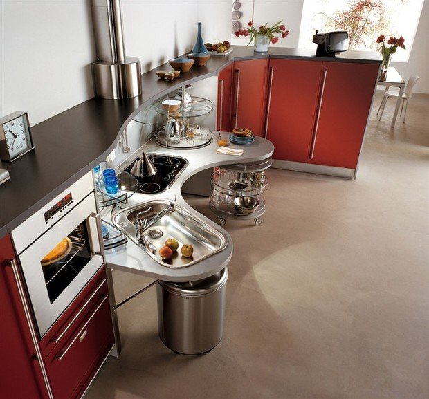 Фотография: Кухня и столовая в стиле Хай-тек, Интерьер комнат – фото на InMyRoom.ru