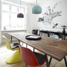 Фотография: Кухня и столовая в стиле Современный, Скандинавский, Квартира, Дания, Цвет в интерьере, Дома и квартиры, Белый – фото на InMyRoom.ru