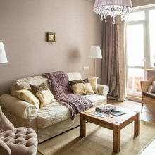 Фотография: Гостиная в стиле Кантри, Эклектика, Классический, Квартира, Проект недели – фото на InMyRoom.ru