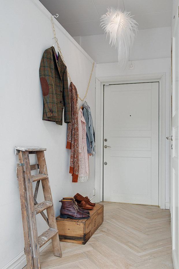 Фотография: Прихожая в стиле Скандинавский, Малогабаритная квартира, Квартира, Дома и квартиры – фото на InMyRoom.ru