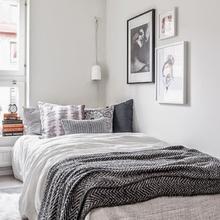 Фотография: Спальня в стиле Скандинавский, Малогабаритная квартира, Квартира, Дома и квартиры, Ретро – фото на InMyRoom.ru