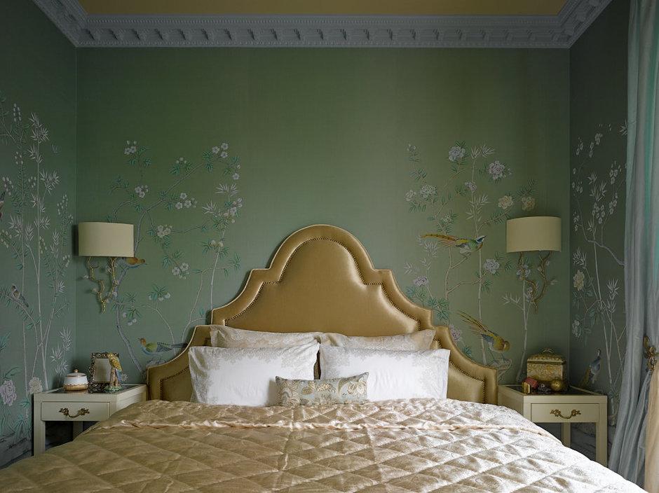Фотография: Спальня в стиле Современный, Классический, Эклектика, Квартира, Текстиль, Дома и квартиры – фото на InMyRoom.ru