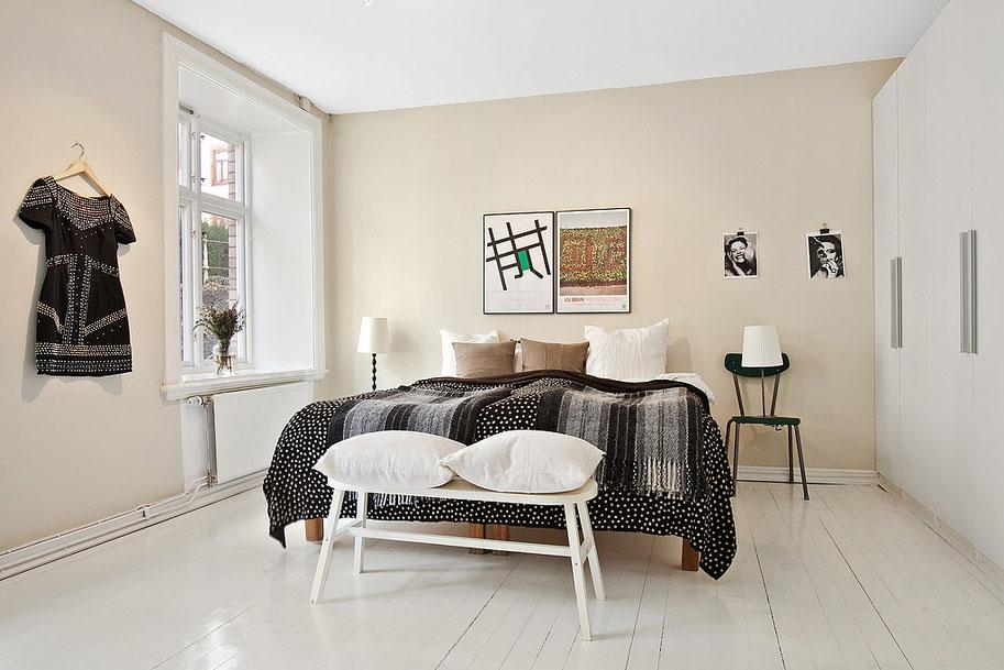 Фотография: Спальня в стиле Скандинавский, Восточный, Лофт, Квартира, Цвет в интерьере, Дома и квартиры, Белый, Проект недели – фото на InMyRoom.ru