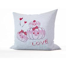 Декоративные подушки: Розовые тыковки