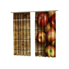 Шторы с фотопечатью для кухни: Румяные яблочки