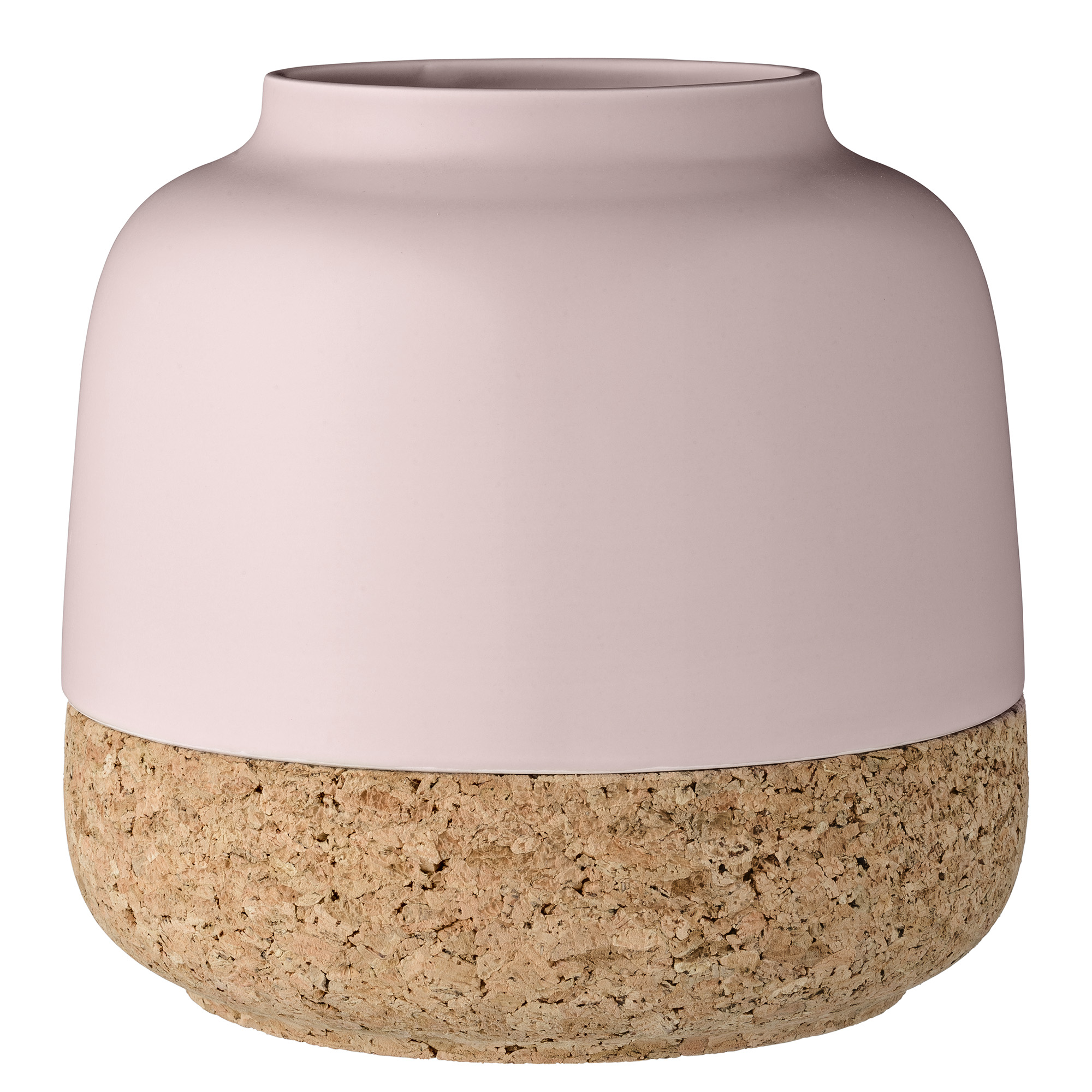 Купить со скидкой Ваза Pink из керамики и пробки