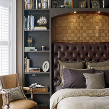 Фотография: Спальня в стиле Кантри, Гардеробная, Декор интерьера, Интерьер комнат, Системы хранения, Кровать, Гардероб – фото на InMyRoom.ru