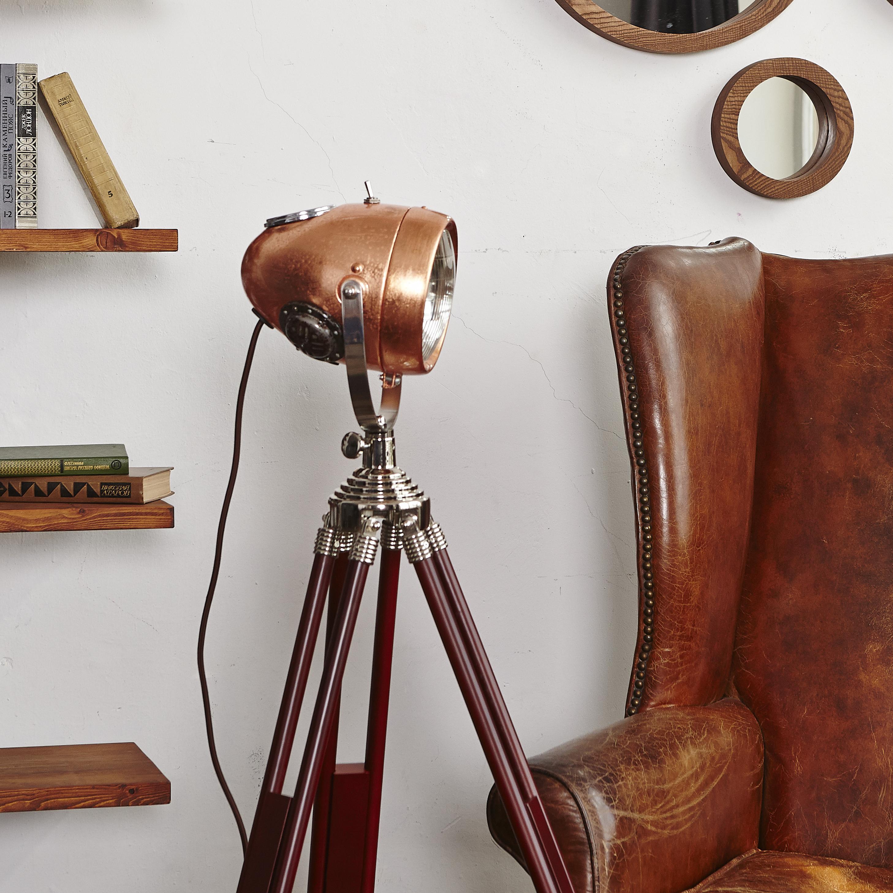 Купить Мото-торшер Vstileretro Roadmaster Copper, inmyroom, Россия