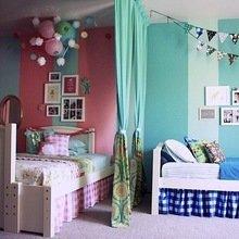 Фотография: Детская в стиле Кантри, Декор интерьера, Дизайн интерьера, Цвет в интерьере, Стены – фото на InMyRoom.ru