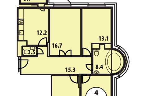 Ищу дизайнера для квартиры 104 кв.м. в Видном (Москва, 15 мин. от метро Домодедовская)