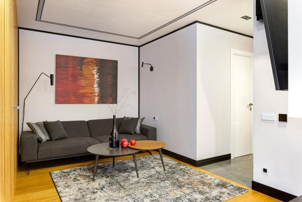 Фотография: Гостиная в стиле Современный, Квартира, Проект недели, Москва, 3 комнаты, 40-60 метров, Юлия Левина – фото на INMYROOM