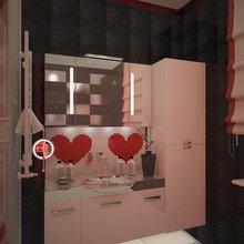 Фото из портфолио Санузел ко дню Святого Валентина – фотографии дизайна интерьеров на InMyRoom.ru
