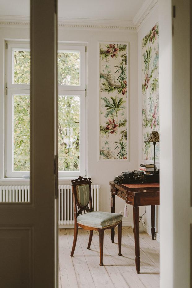 Фотография: Кабинет в стиле Эклектика, Классический, Скандинавский, Декор интерьера, Квартира, Белый, Зеленый, Бежевый, Польша, 3 комнаты – фото на INMYROOM