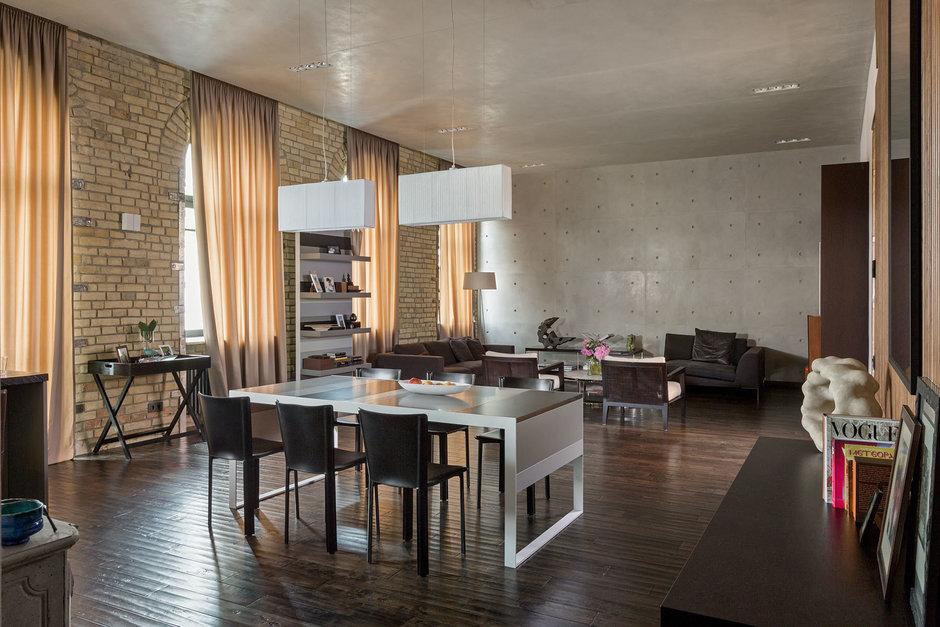 Фотография: Гостиная в стиле Лофт, Квартира, Украина, Дома и квартиры, Проект недели – фото на InMyRoom.ru