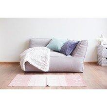 Лежак угловой розового цвета