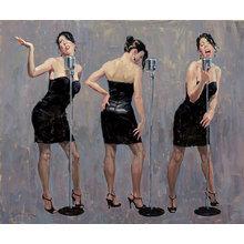 Картина (репродукция, постер): Another Girl In Black - Эрик Боуман