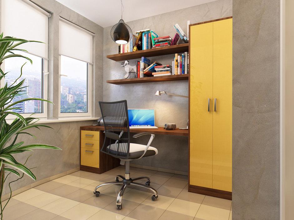 Фотография: Кабинет в стиле Современный, Лофт, Квартира, Проект недели – фото на InMyRoom.ru