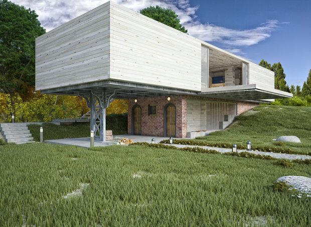 Фото из портфолио Wooden house – фотографии дизайна интерьеров на INMYROOM