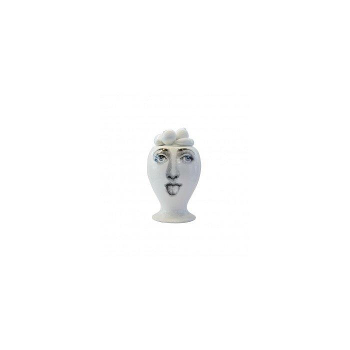 Декоративная ваза с крышкой Raccolto White