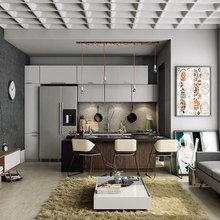 Фотография: Кухня и столовая в стиле Лофт, Малогабаритная квартира, Квартира, Дизайн интерьера – фото на InMyRoom.ru