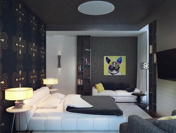 Фотография: Спальня в стиле Современный, Декор интерьера, Дизайн интерьера, Цвет в интерьере, Серый – фото на InMyRoom.ru