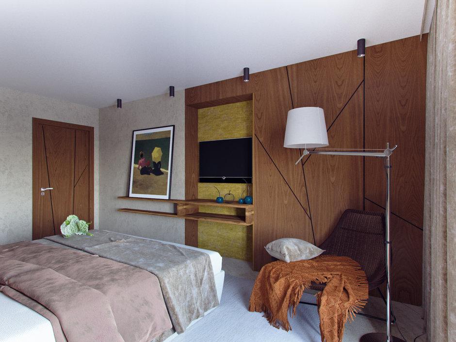Фотография: Спальня в стиле Современный, Эко, Дом, Проект недели, Дача, Волгоград, 4 и больше, Более 90 метров, Дизайн-студия Leгко – фото на InMyRoom.ru