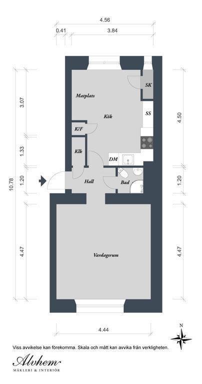 Фотография: Планировки в стиле , Малогабаритная квартира, Квартира, Швеция, Дома и квартиры – фото на InMyRoom.ru