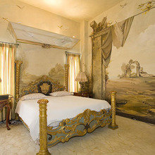 Фотография: Спальня в стиле Классический, Современный, Квартира, Терраса, Дома и квартиры, Камин, Пентхаус, Ар-деко – фото на InMyRoom.ru