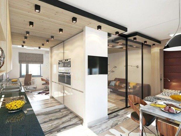Фотография: Кухня и столовая в стиле Лофт, Современный, Декор интерьера, DIY, Малогабаритная квартира, Квартира, Белый, Бежевый, Серый – фото на InMyRoom.ru