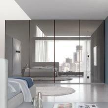 Фотография: Спальня в стиле Хай-тек, Декор интерьера, DIY, Малогабаритная квартира, Квартира, Белый, Бежевый, Серый – фото на InMyRoom.ru