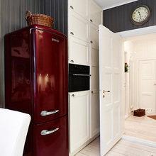 Фотография: Кухня и столовая в стиле Скандинавский, Малогабаритная квартира, Квартира, Цвет в интерьере, Дома и квартиры, Белый, Гетеборг – фото на InMyRoom.ru