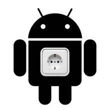 Виниловая наклейка андройд темная сила