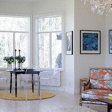 Фотография: Гостиная в стиле Эклектика, Дом, Швеция, Цвет в интерьере, Дома и квартиры, Белый – фото на InMyRoom.ru