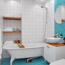 Фотография: Ванная в стиле Скандинавский, Современный, Малогабаритная квартира, Квартира, Швеция, Мебель и свет, Дома и квартиры, Белый – фото на InMyRoom.ru