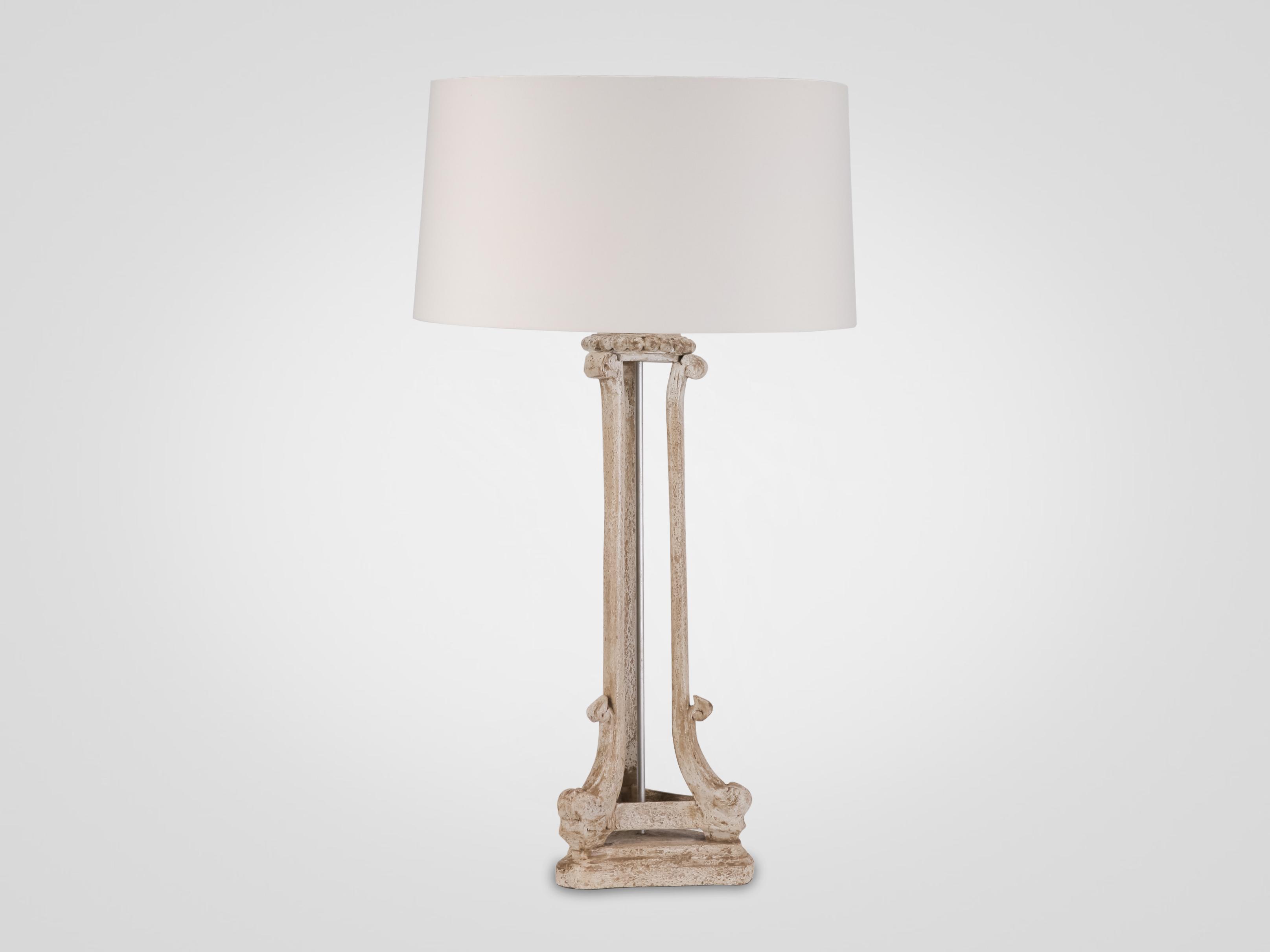 Купить Лампа настольная в стиле прованс на резной ножке, inmyroom, Индонезия