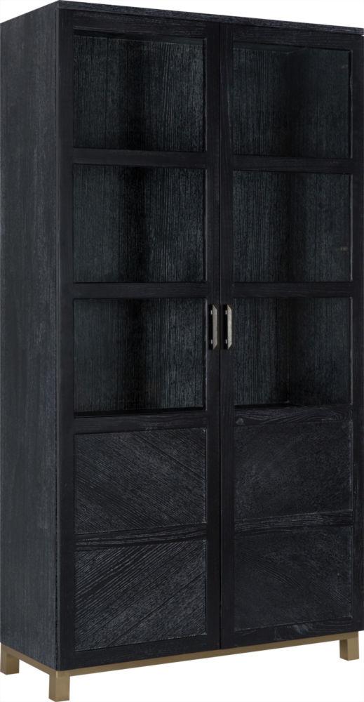 Шкаф кабинетный черного цвета