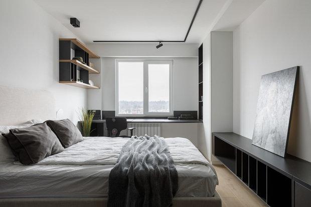 Фотография: Спальня в стиле Минимализм, Лофт, Проект недели, Санкт-Петербург, 2 комнаты, 60-90 метров, Dinamika Architects – фото на INMYROOM