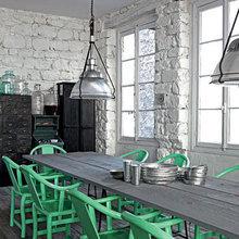 Фотография: Кухня и столовая в стиле Лофт, Квартира, Дома и квартиры, Интерьеры звезд, Париж, Паола Навоне – фото на InMyRoom.ru