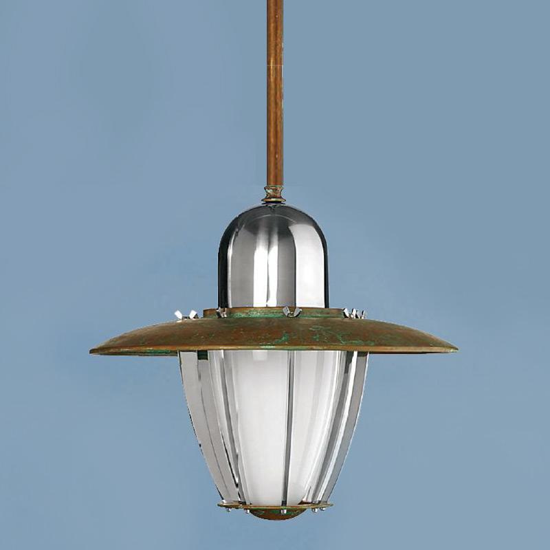 Подвесной светильник Aldo Bernardi Astese с плафоном из матового белого стекла