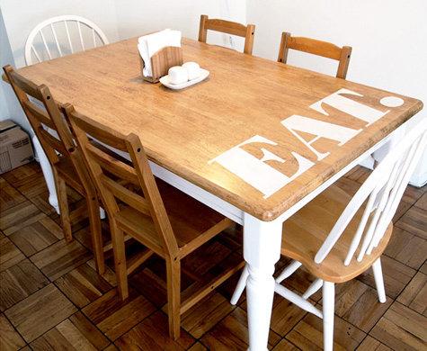 Фотография: Кухня и столовая в стиле Лофт, Декор интерьера, DIY, Мебель и свет, Переделка, Кресло, Диван, Люстра, Комод, Зеркало, Стул, Холодильник, идеи переделки старой мебели, переделка старой мебели фото – фото на InMyRoom.ru