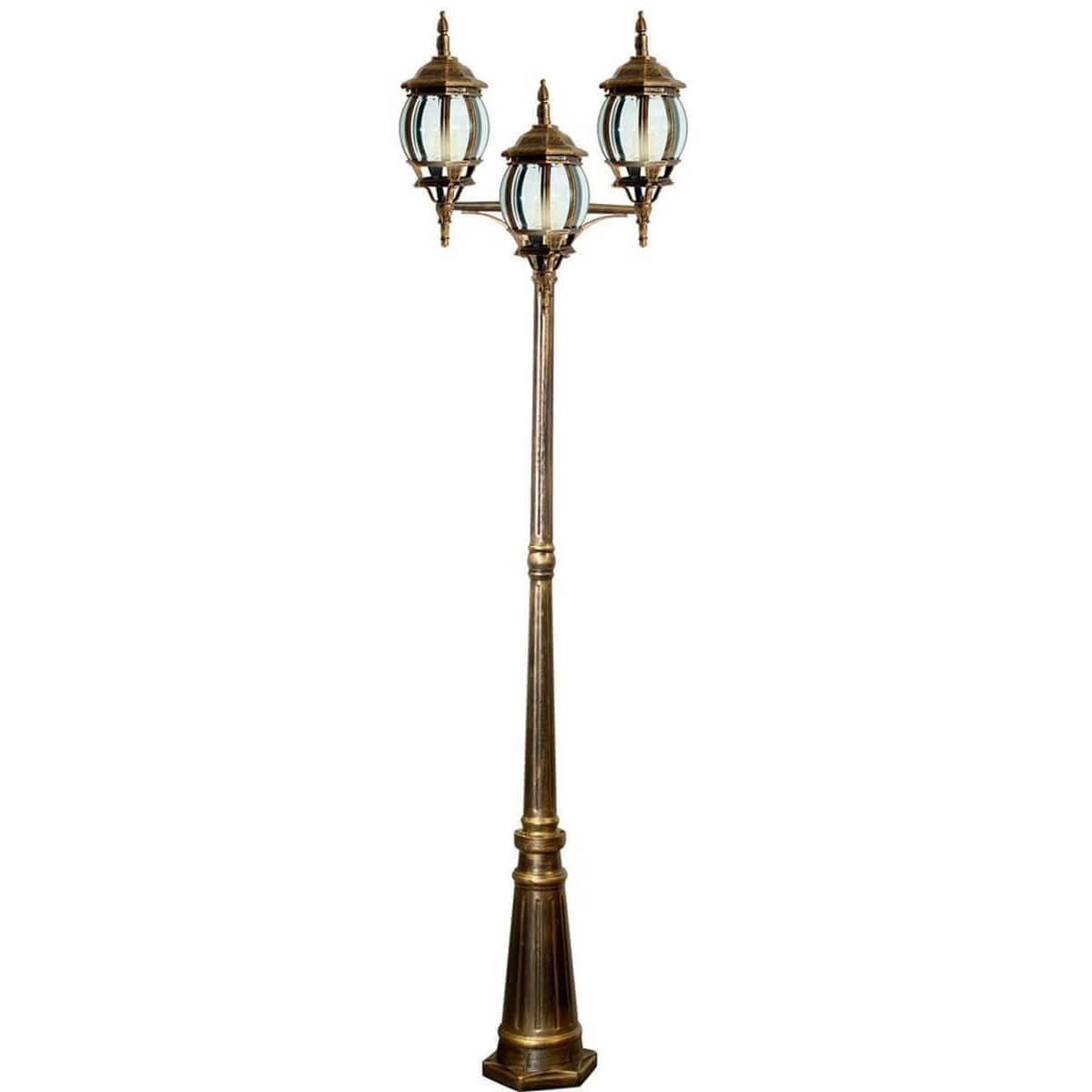 Садово-парковый светильник золотого цвета