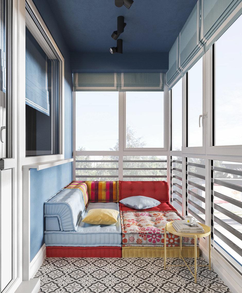 Фотография: Балкон в стиле Современный, Квартира, Проект недели, Московская область, Ольга Розина, 2 комнаты, 60-90 метров, Монолитно-кирпичный – фото на InMyRoom.ru
