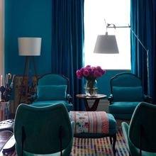 Фотография: Гостиная в стиле Эклектика, Декор интерьера, Квартира, Дом, Декор, Синий – фото на InMyRoom.ru