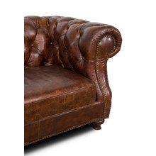 Кожаный диван букингем