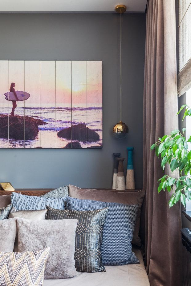 Фотография: Спальня в стиле Эклектика, Квартира, Проект недели, Москва, Диана Мальцева, Монолитный дом, 1 комната, 40-60 метров, ЖК «Флотилия» – фото на INMYROOM